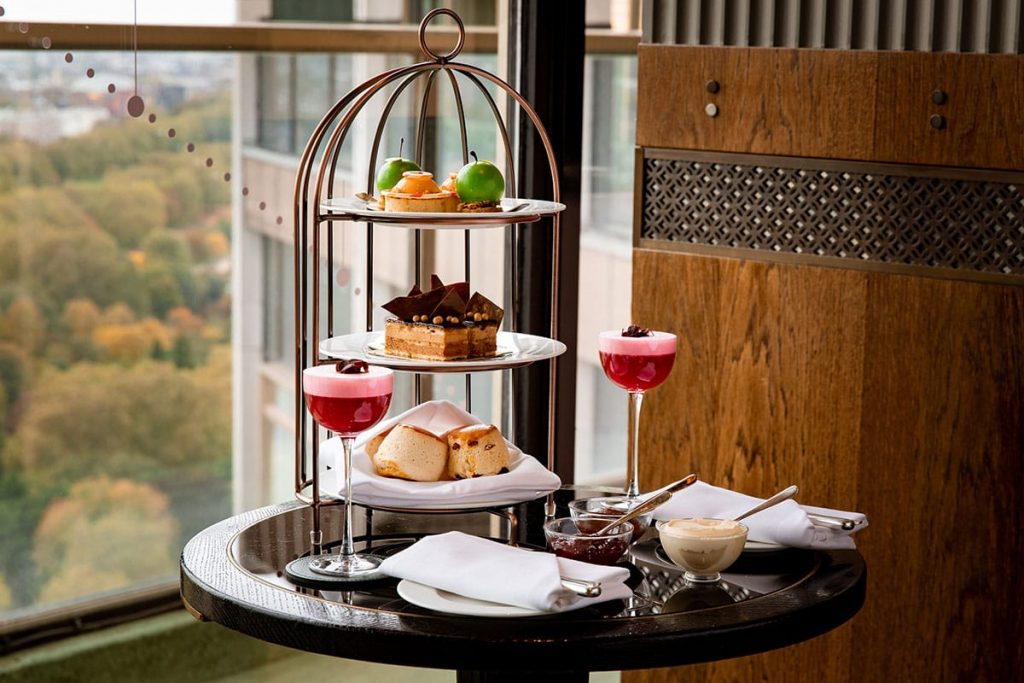 Sweet and savoury treats served for Afternoon Tea
